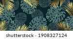 gold pattern background vector. ... | Shutterstock .eps vector #1908327124