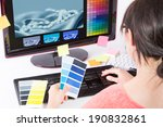 graphic designer at work. color ... | Shutterstock . vector #190832861