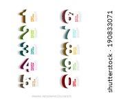 infographics papercut number... | Shutterstock .eps vector #190833071