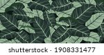 luxury nature leaves background ... | Shutterstock .eps vector #1908331477