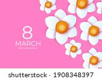 bouquet of narcissus flowers.... | Shutterstock .eps vector #1908348397