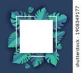 monstera deliciosa plant leaves ... | Shutterstock .eps vector #1908349177