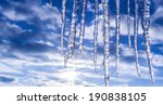 icicle on a spring eaves | Shutterstock . vector #190838105