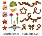 set of isolated realistic... | Shutterstock .eps vector #1908406561