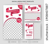 set of editable square banners... | Shutterstock .eps vector #1908407887
