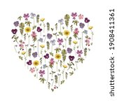 greeting card with floral... | Shutterstock .eps vector #1908411361
