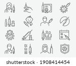 vaccine icons  such as syringe  ... | Shutterstock .eps vector #1908414454