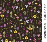 floral background with pansy... | Shutterstock .eps vector #1908414514