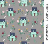 raster seamless background ... | Shutterstock . vector #1908422011