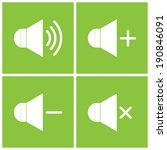 speaker icons on green...
