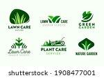 set of logo garden and lawn...   Shutterstock .eps vector #1908477001