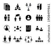 recruitment set icon. head... | Shutterstock .eps vector #1908499861