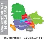 colorful guadalajara... | Shutterstock .eps vector #1908513451