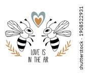 love is in the air. print ... | Shutterstock .eps vector #1908522931