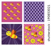 bees seamless background. | Shutterstock . vector #190853021