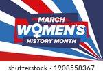 women's history month....   Shutterstock .eps vector #1908558367