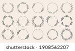 set of black laurels wreath... | Shutterstock .eps vector #1908562207