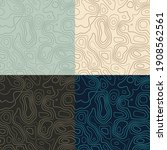 topography patterns. seamless...   Shutterstock .eps vector #1908562561