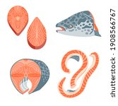 salmon flash and bellies... | Shutterstock .eps vector #1908566767
