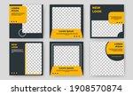 set of editable square banner... | Shutterstock .eps vector #1908570874