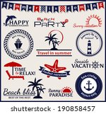 set of summer and sea labels ... | Shutterstock .eps vector #190858457