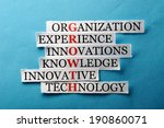 growth  acronym in business... | Shutterstock . vector #190860071