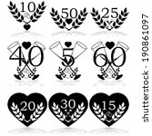 vector icon set showing... | Shutterstock .eps vector #190861097
