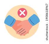 covid19 prevention  avoid... | Shutterstock .eps vector #1908618967