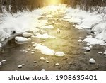 Winter Scenery Of Narrow...