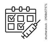 multiple dose vaccine schedules ... | Shutterstock .eps vector #1908657571
