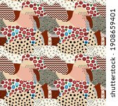 fussy seamless pattern of round ... | Shutterstock .eps vector #1908659401