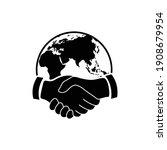 handshake vector business icon. ...   Shutterstock .eps vector #1908679954