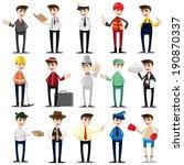 illustration of cartoon... | Shutterstock .eps vector #190870337