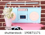 still life with colorful retro... | Shutterstock . vector #190871171