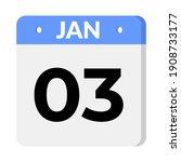 03 january calendar icon  vector   Shutterstock .eps vector #1908733177