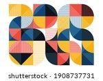 geometric mural background.... | Shutterstock .eps vector #1908737731