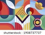 geometric mural background.... | Shutterstock .eps vector #1908737737