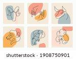 continuous line art zodiac... | Shutterstock .eps vector #1908750901