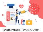 doctor killing coronavirus with ... | Shutterstock .eps vector #1908772984