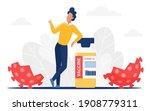 kill coronavirus vector... | Shutterstock .eps vector #1908779311