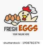 Fresh Chicken Eggs Logo. Funny...