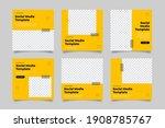 unique modern editable social... | Shutterstock .eps vector #1908785767
