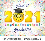 class of 2021 year graduating... | Shutterstock .eps vector #1908788671