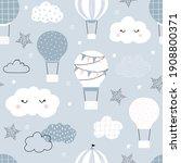 vector hand drawn seamless...   Shutterstock .eps vector #1908800371