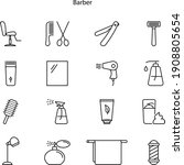 barber icon isolated on white...