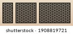 laser cut patterns. vector...   Shutterstock .eps vector #1908819721