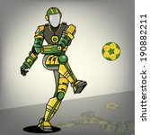 brazilian football robot | Shutterstock .eps vector #190882211