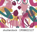 seamless abstract doodle...   Shutterstock .eps vector #1908822127