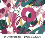 seamless abstract doodle...   Shutterstock .eps vector #1908822307