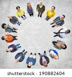 group of multiethnic people... | Shutterstock . vector #190882604